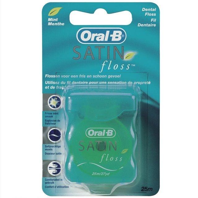 Oral B Satin mint floss - 25mtr