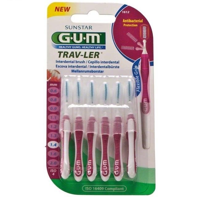 GUM Trav-ler ragers 1,4 mm magenta - 6st