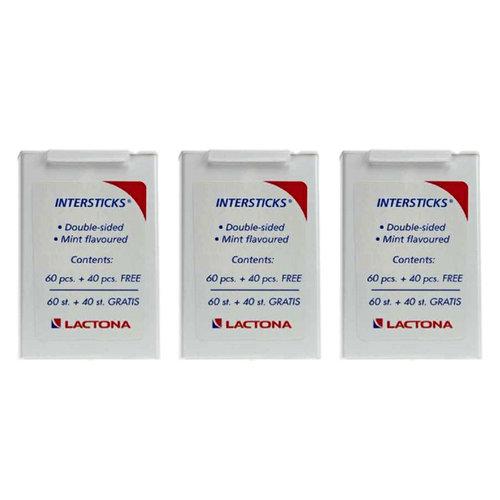 Lactona Lactona Tandenstokers intersticks - Voordeel 3 x 100st