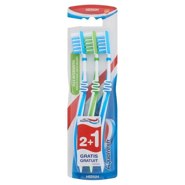 Aquafresh Tandenborstel flex interdent medium - 3st