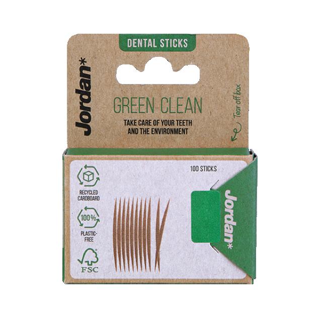 Jordan Dental Sticks Green Clean - 100st