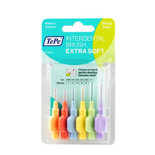 TePe TePe Interdentale ragers extra soft gemengd (lichtoranje t/m lichtlila) - 6st
