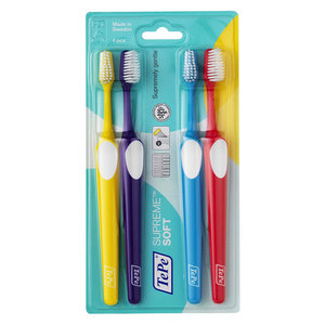 TePe TePe Supreme tandenborstel soft- 4st
