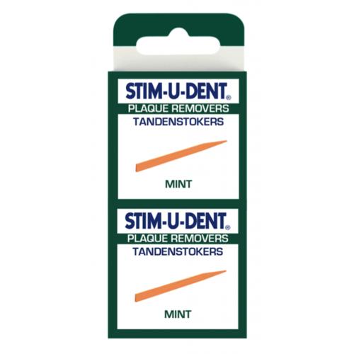 Stimudent Stimudent Tandenstokers regular mint - 4 x 25st