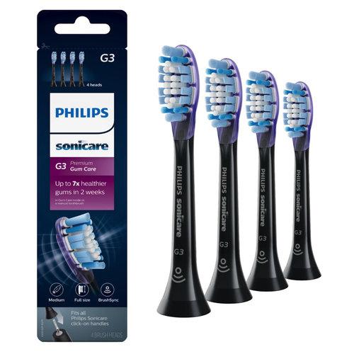 Philips  Philips Sonicare Premium Gum Care opzetborstels zwart HX9054/33 - 4st