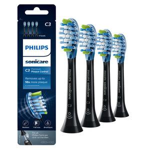 Philips  Philips Sonicare Premium Plaque Defense opzetborstels zwart HX9044/33 - 4st