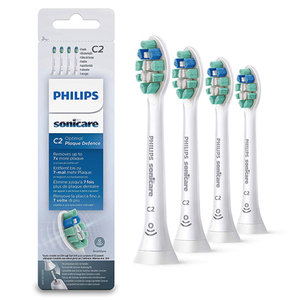 Philips  Philips C2 Sonicare Plaque Defense opzetborstels wit HX9024/10 - 4st