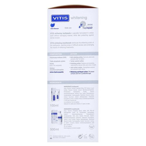Vitis Vitis Whitening Mondspoelmiddel + Tandpasta - Voordeelpakket 1st