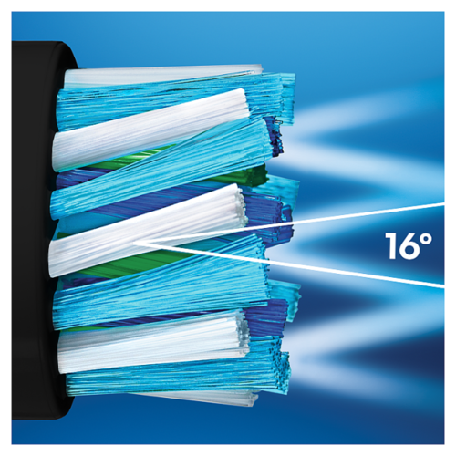 Oral B Oral-B CrossAction Opzetborstels zwart – 3st