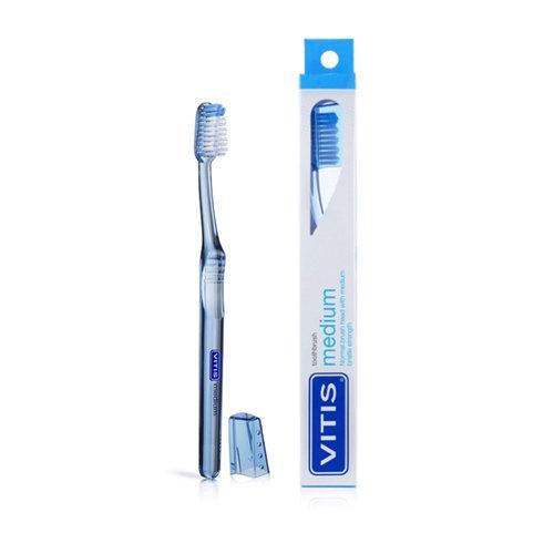 Vitis Vitis Tandenborstel Medium - 1st + Gratis Vitis Whitening Tandpasta Mini