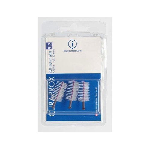 Curaprox  Curaprox CPS 512 Soft Implant ragers 12mm paars navulling – 3st