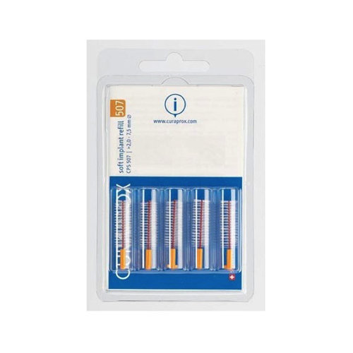 Curaprox  Curaprox CPS 507 Soft Implant ragers 7,5mm oranje navulling – 5st