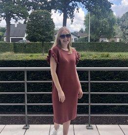 Gebreide jurk met kapmouw