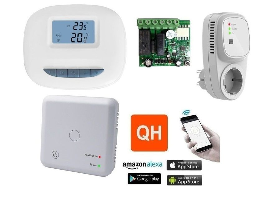 Wifi Thermostaat set met display en app