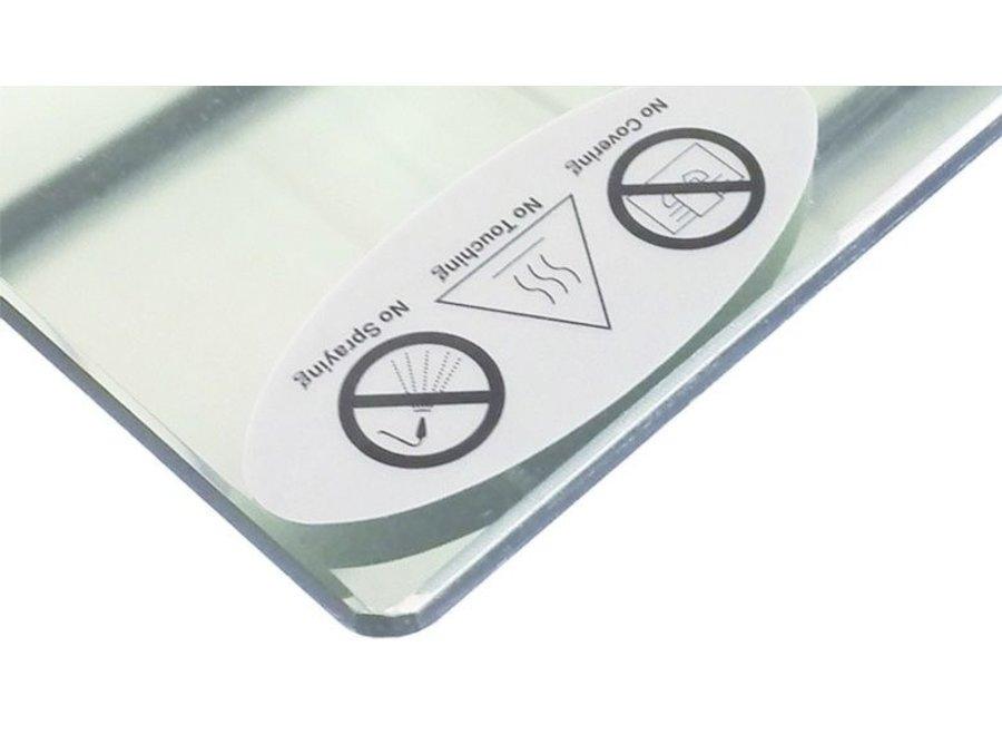 Spiegel infrarood verwarming 60x60 cm 320Watt