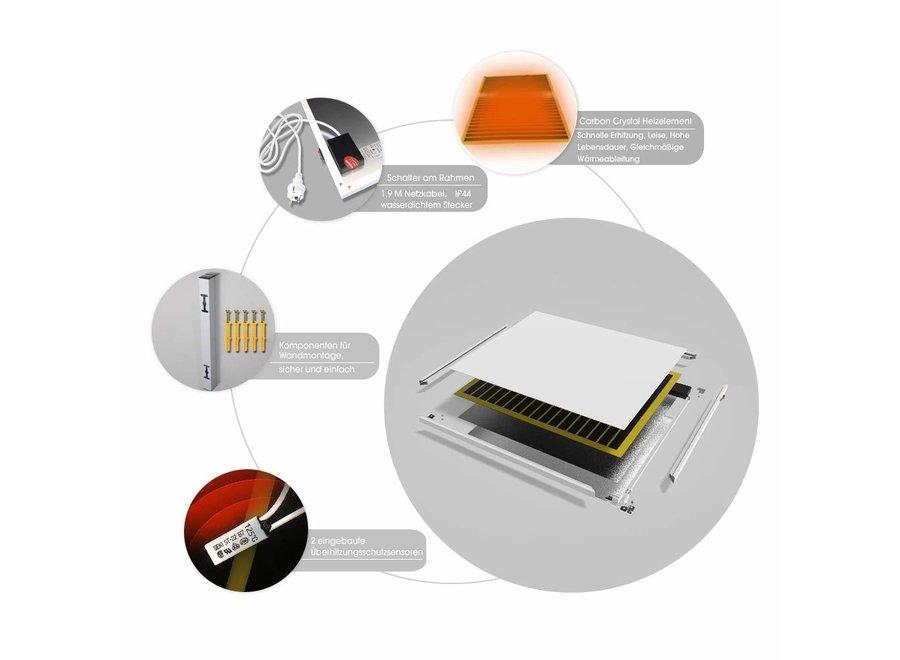 Verplaatsbare infrarood paneel 350, 450, 580, 700 en 900 Watt
