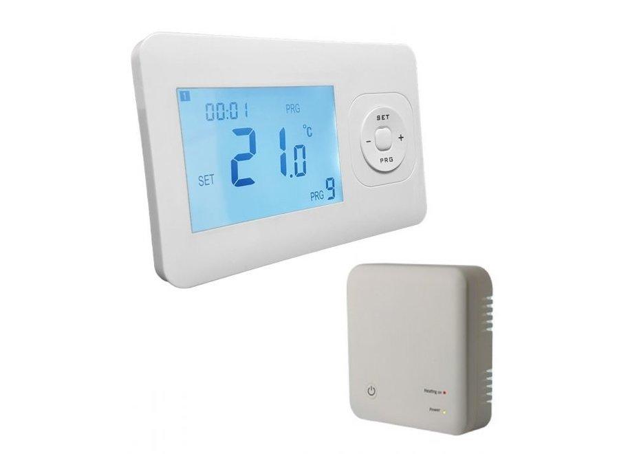 Draadloze thermostaat programmeerbaar met ontvanger