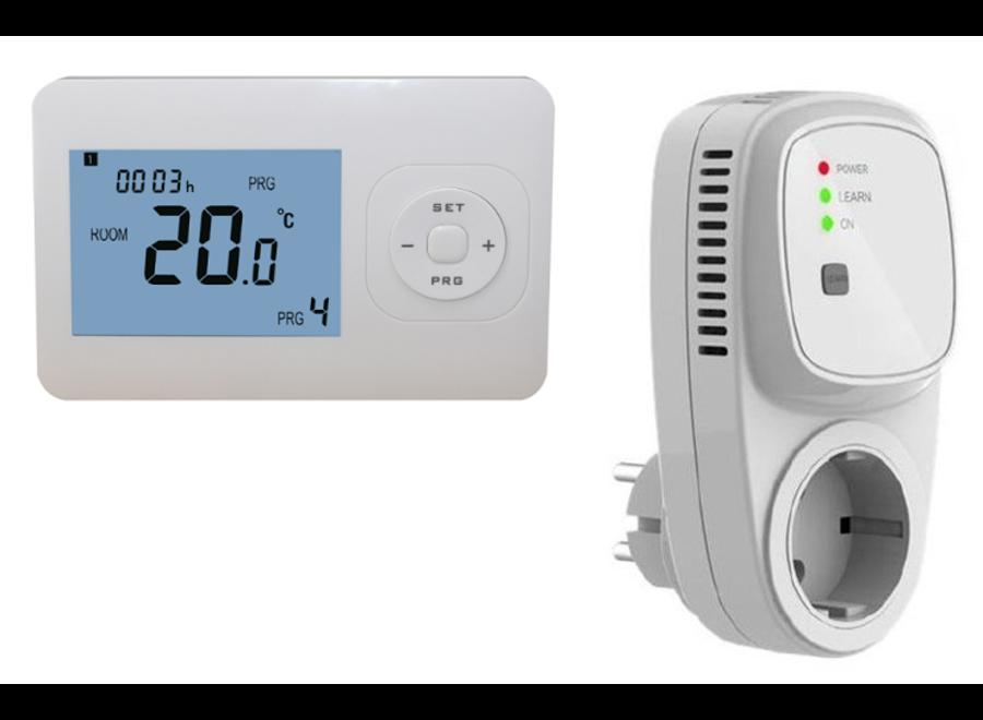 Draadloze programmeerbare thermostaat RF-OPTIMA inclusief PLUG in ontvanger