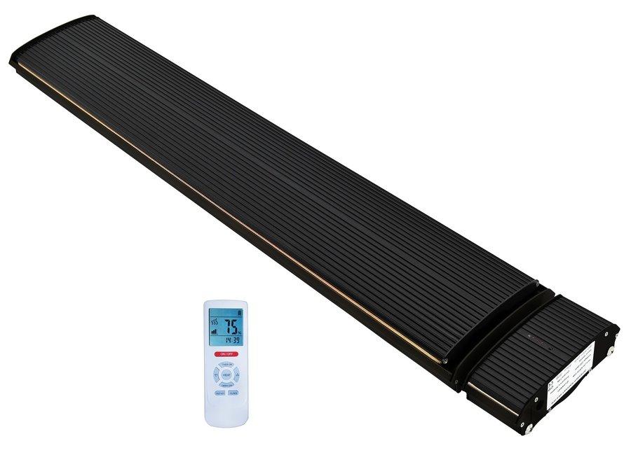 Infrarood terrasverwarmer black heater 1800 - 2400Watt met afstandsbediening