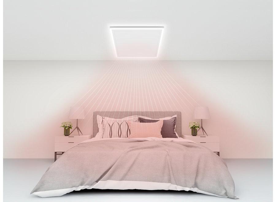 Infraroodpaneel wit met ledverlichting 70x110 680 Watt