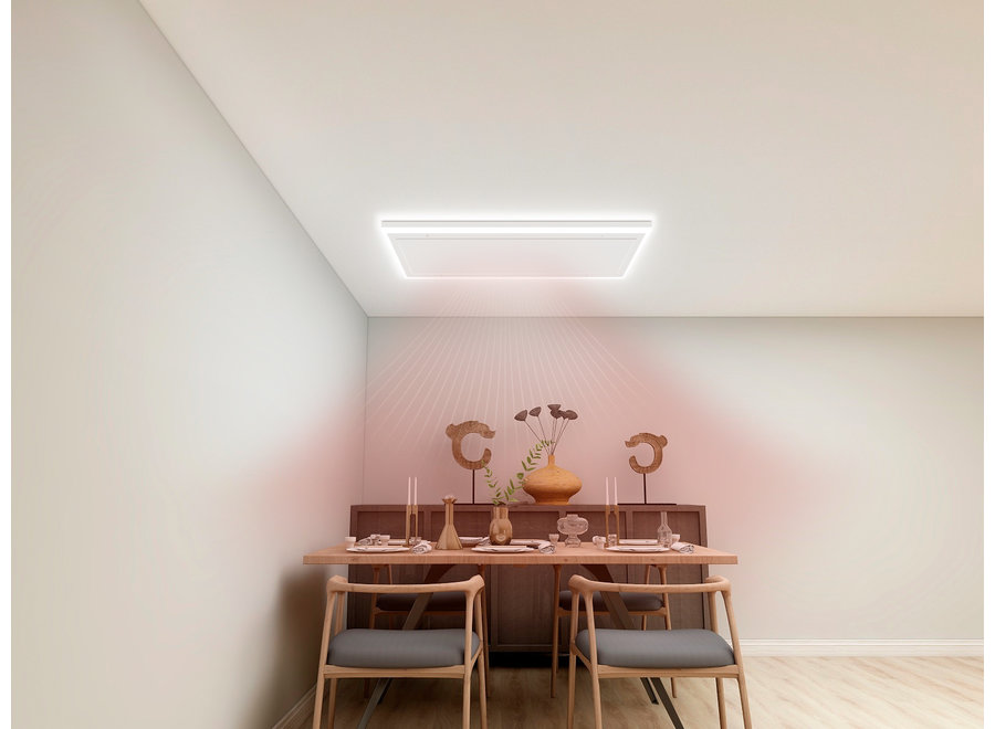 Infraroodpaneel wit met ledverlichting 70x130 840 Watt