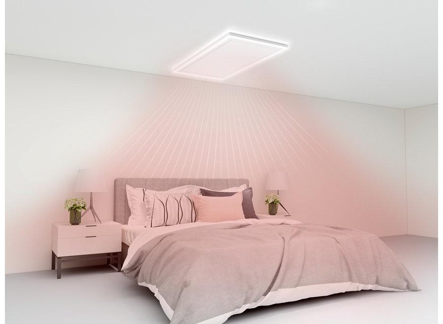 Infraroodpaneel wit met ledverlichting 70x130 800 Watt