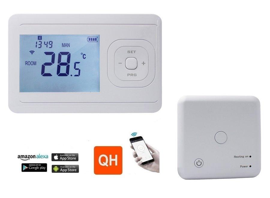 WIFI thermostaat programmeerbaar met ontvanger