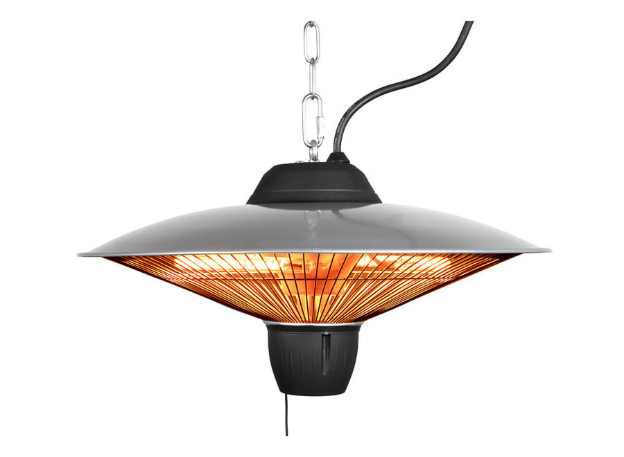 Terrasheater hangend 2000W met afstandsbediening