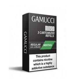 Gamucci Gamucci cartomizers Menthol regular 16 mg Nicotine 3 stuks