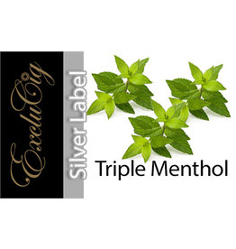 Exclucig Exclucig Silver Label E-liquid Triple Menthol 0 mg Nicotine