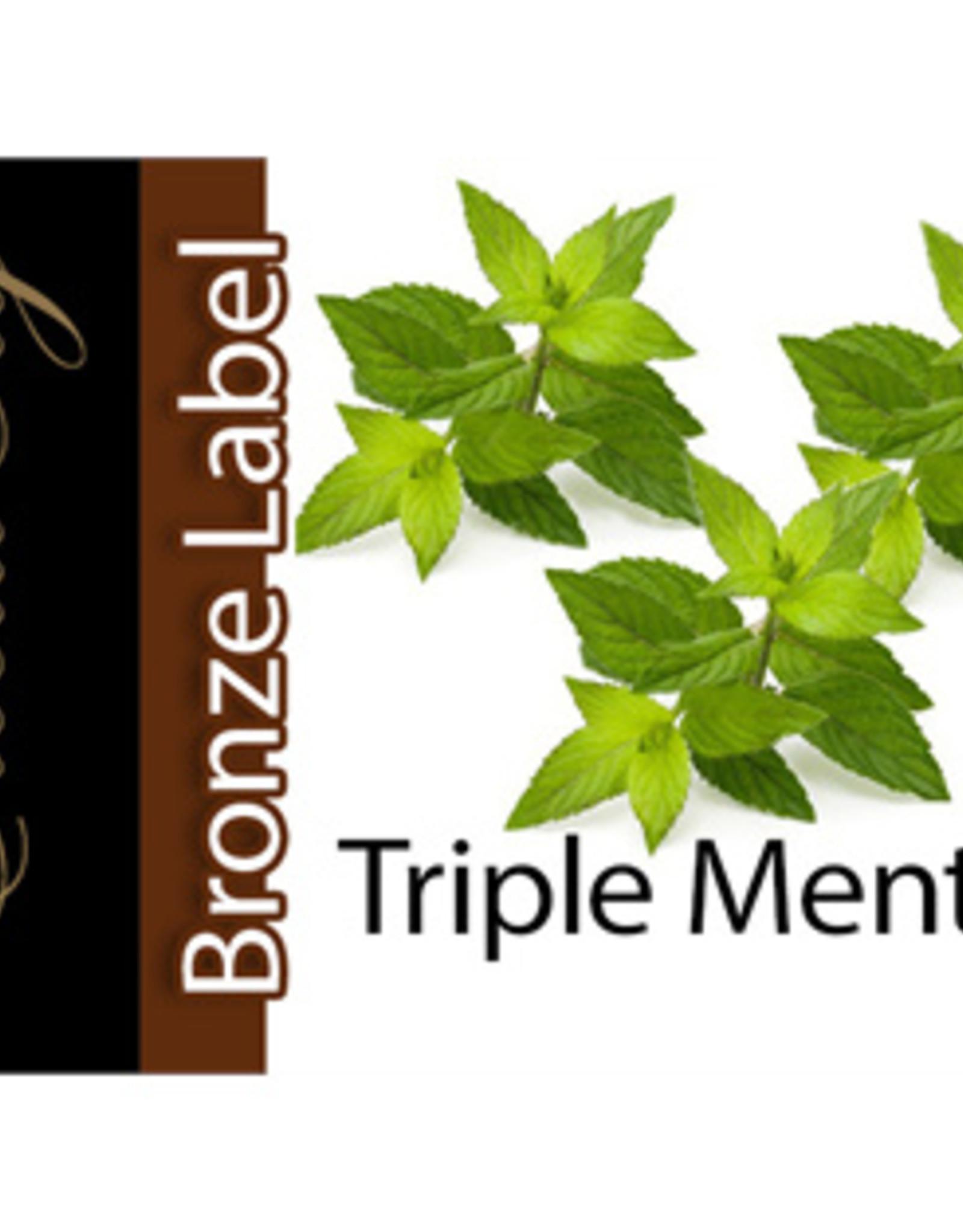 Exclucig Exclucig Bronze Label E-liquid Triple Menthol 6 mg Nicotine