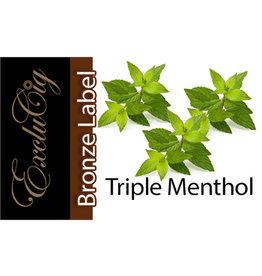 Exclucig Exclucig Bronze Label E-liquid Triple Menthol 18 mg Nicotine