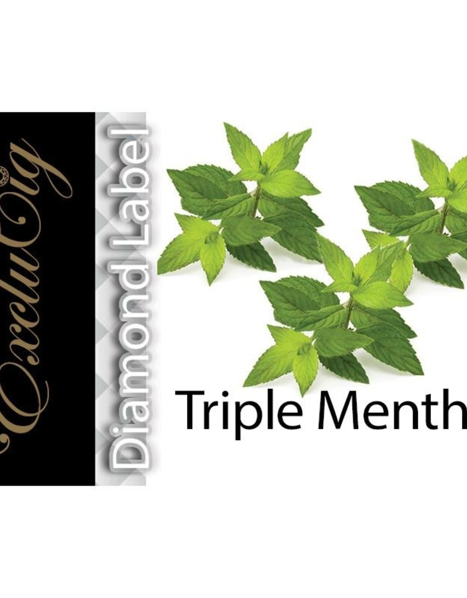 Exclucig Exclucig Diamond Label E-liquid Triple Menthol 6 mg Nicotine
