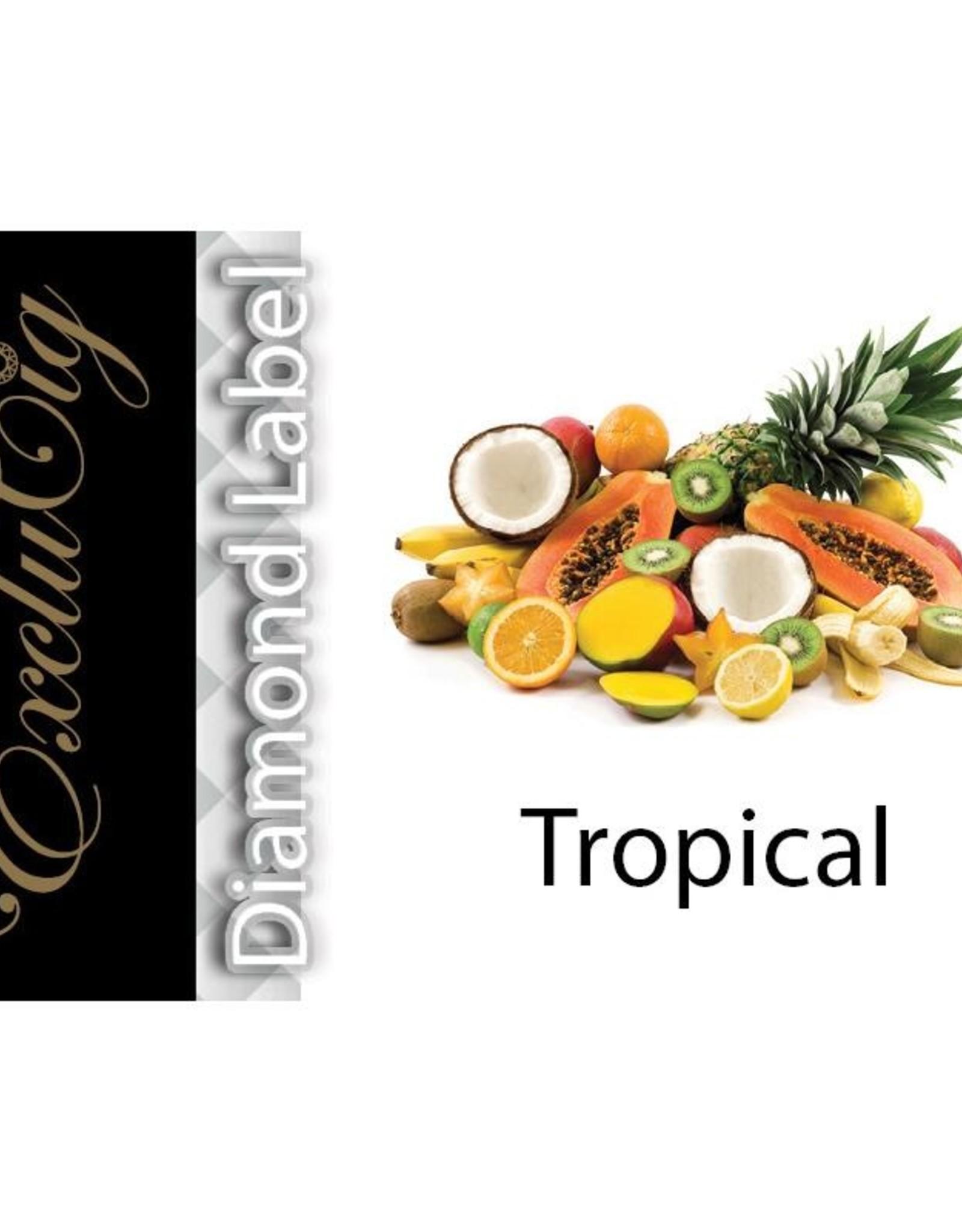 Exclucig Exclucig Diamond Label E-liquid Tropical 0 mg Nicotine