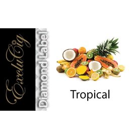 Exclucig Exclucig Diamond Label E-liquid Tropical 0 mg Nicotine