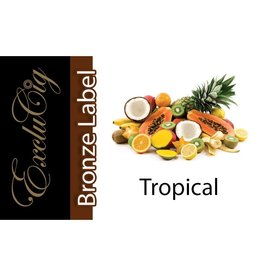 Exclucig Exclucig Bronze Label E-liquid Tropical 0 mg Nicotine