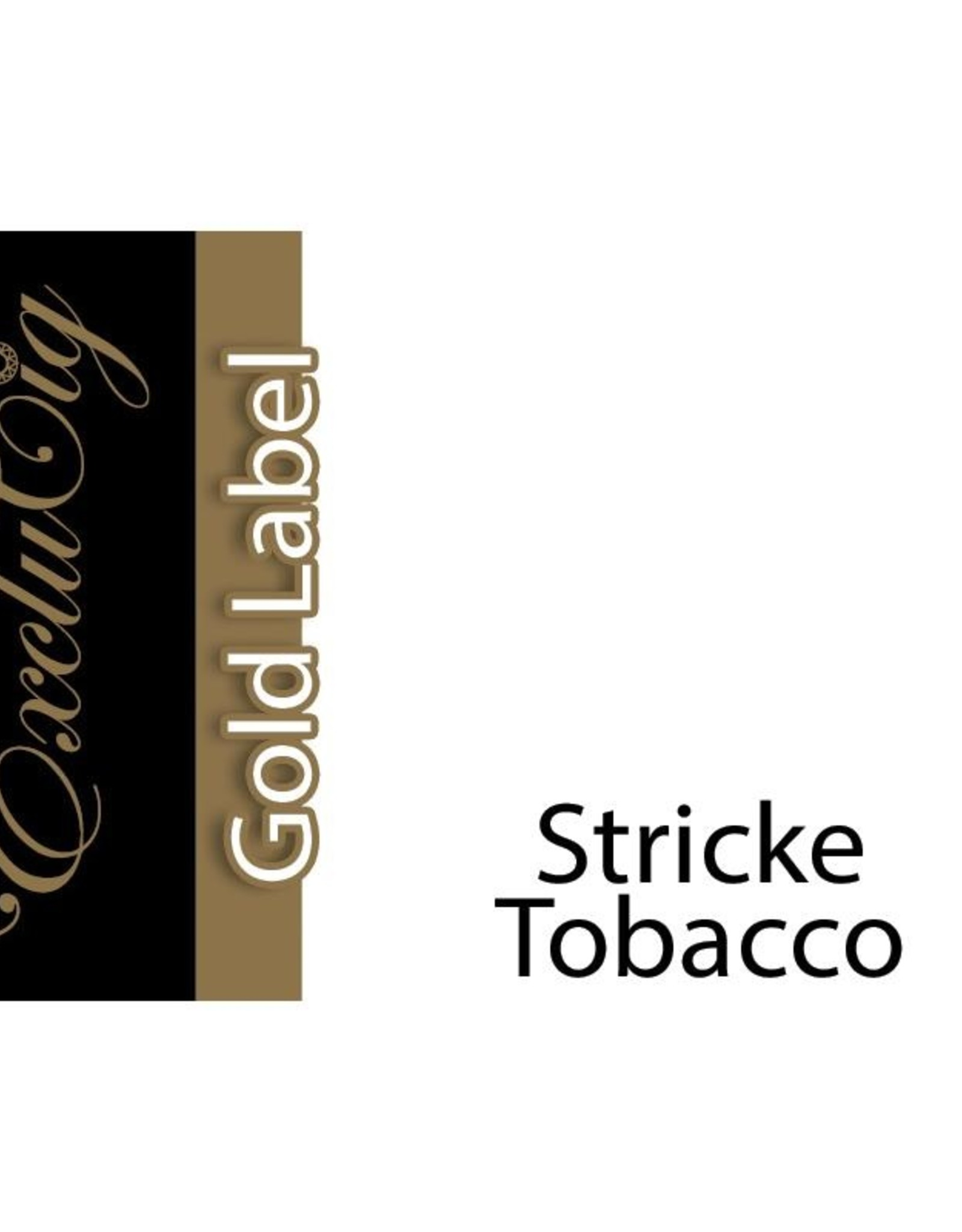 Exclucig Exclucig Gold Label E-liquid Stricke Tobacco 12 mg Nicotine