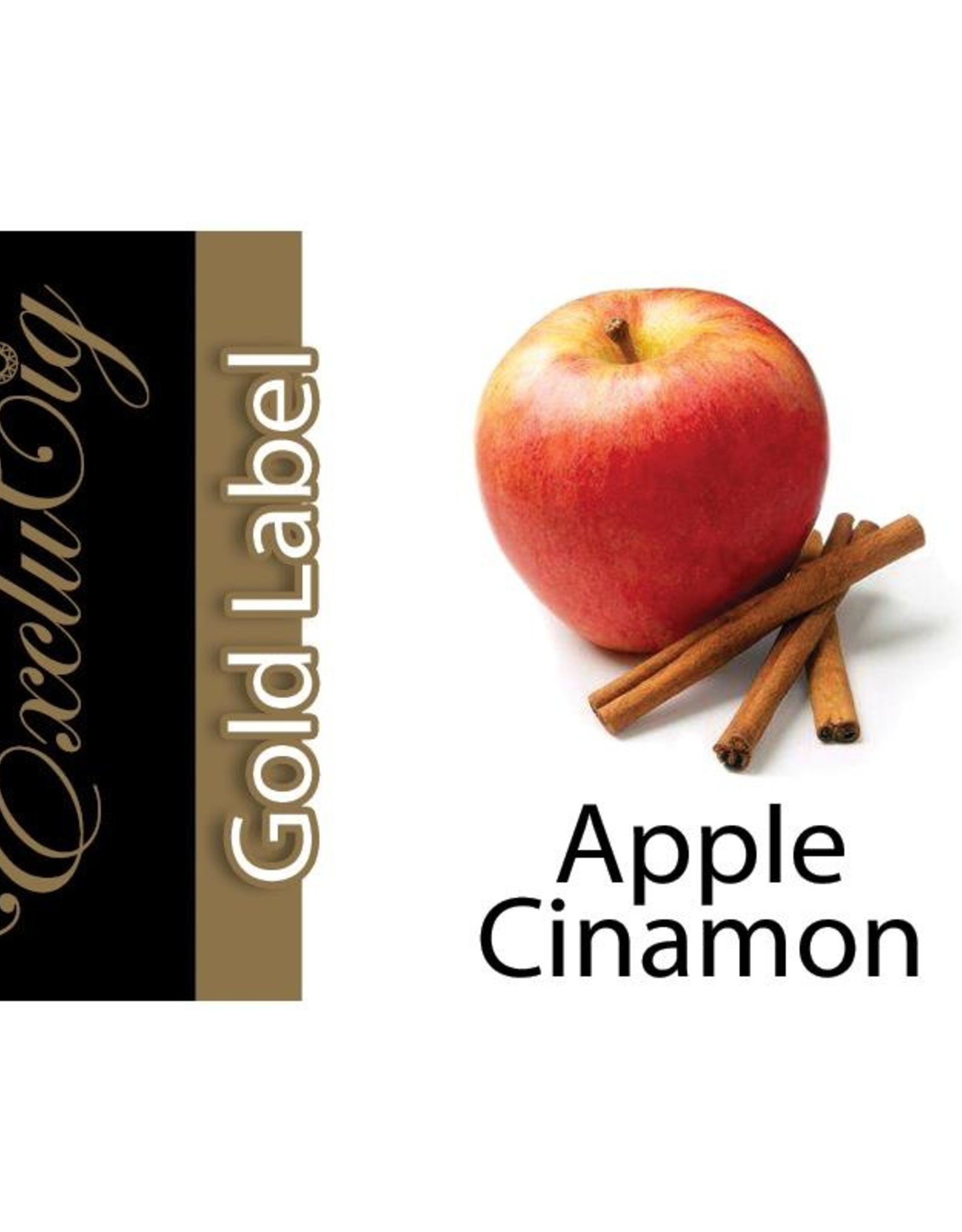 Exclucig Exclucig Gold Label E-liquid Apple Cinamon 18 mg Nicotine