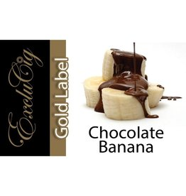 Exclucig Exclucig Gold Label E-liquid Chocolate Banana 0 mg Nicotine