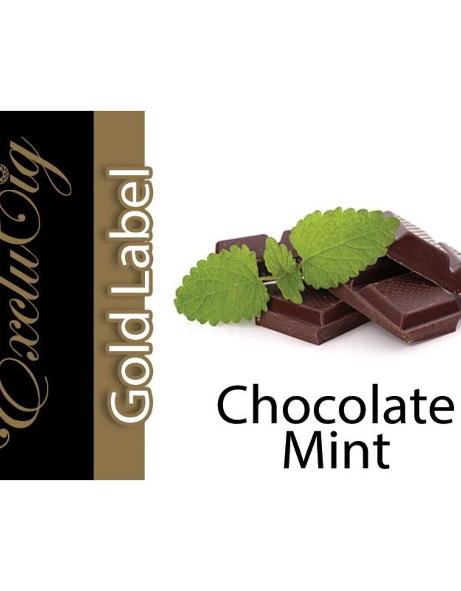 Exclucig Exclucig Gold Label E-liquid Chocolate MInt 0 mg Nicotine