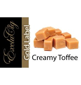 Exclucig Exclucig Gold Label E-liquid Creamy Toffee 0 mg Nicotine