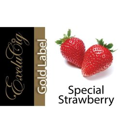 Exclucig Exclucig Gold Label E-liquid Special Strawberry 0 mg Nicotine