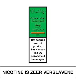 Exclucig Exclucig Green Label E-liquid Tobacco 0 mg Nicotine