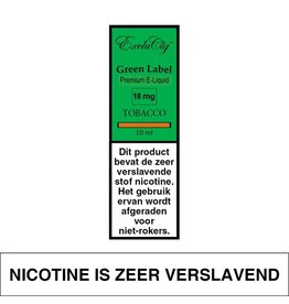 Exclucig Exclucig Green Label E-liquid Tobacco 18 mg Nicotine