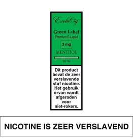 Exclucig Exclucig Green Label E-liquid Menthol 3 mg Nicotine