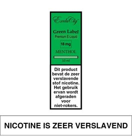 Exclucig Exclucig Green Label E-liquid Menthol 18 mg Nicotine