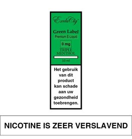 Exclucig Exclucig Green Label E-liquid Triple Menthol 0 mg Nicotine