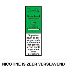 Exclucig Exclucig Green Label E-liquid Triple Menthol 3 mg Nicotine