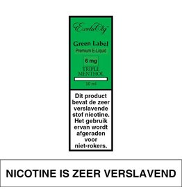 Exclucig Exclucig Green Label E-liquid Triple Menthol 6 mg Nicotine