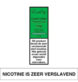 Exclucig Exclucig Green Label E-liquid Menthol Tobacco 3 mg Nicotine